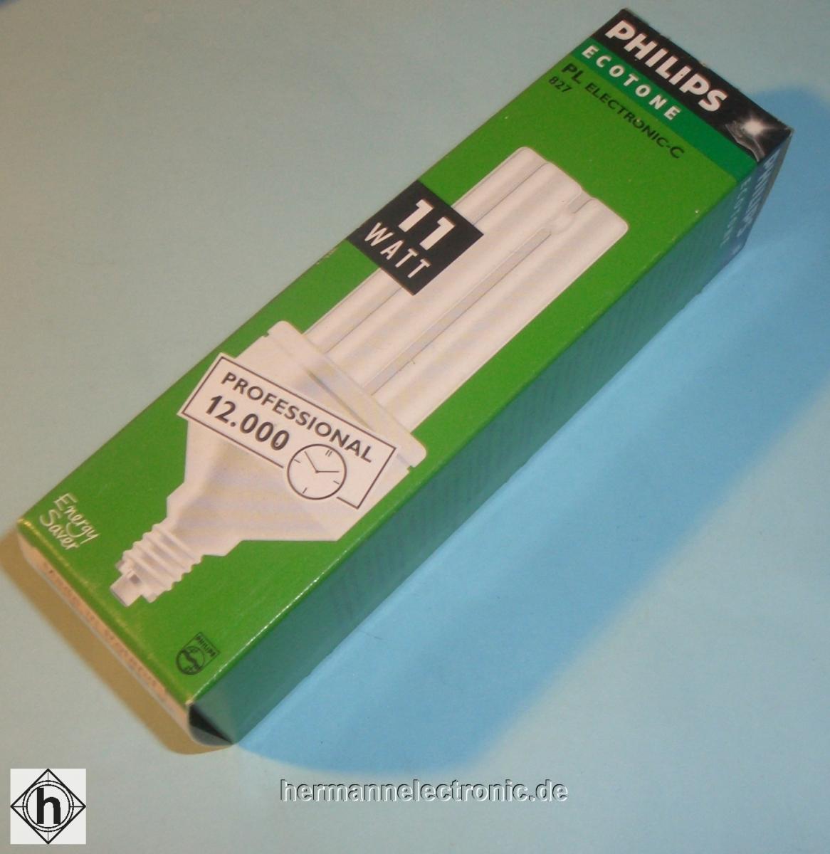 PhilipsPLEC PRO 11W E14 Entspricht der Leuchtkraft einer herkömmlichen 60 W Glühbirne 540508EEK:A