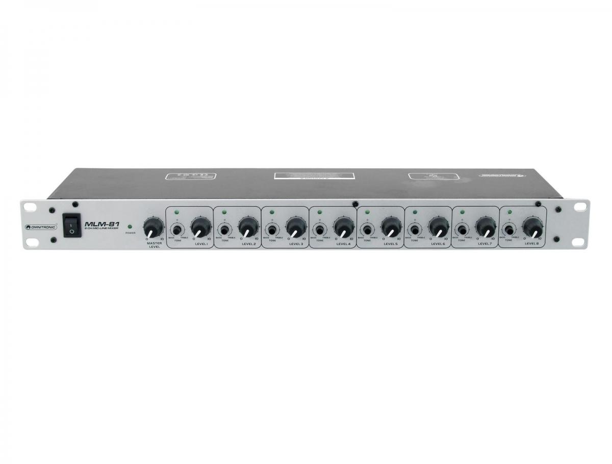 OMNITRONICMLM-81 Microphone/Line Mixer