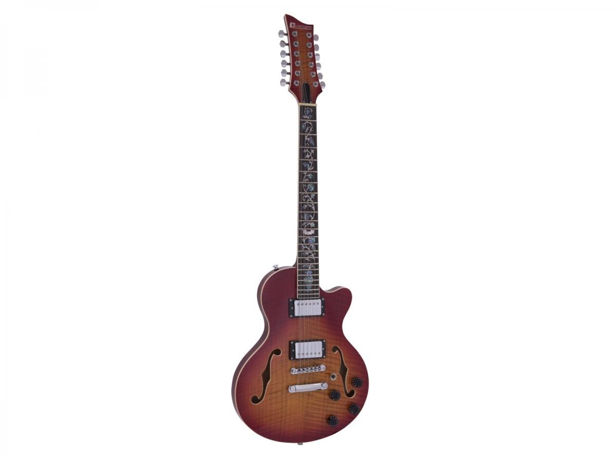 DIMAVERYLP-612 E-Gitarre, flamed sunburst