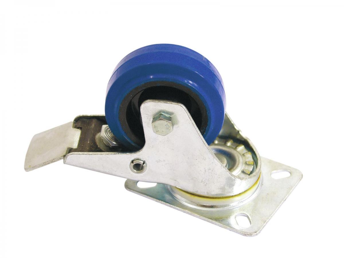 ROADINGERSwivel Castor 80mm blue with brake