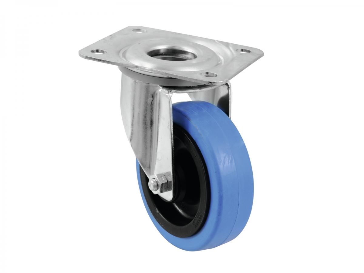 ROADINGERSwivel Castor 100mm BLUE WHEEL light blue