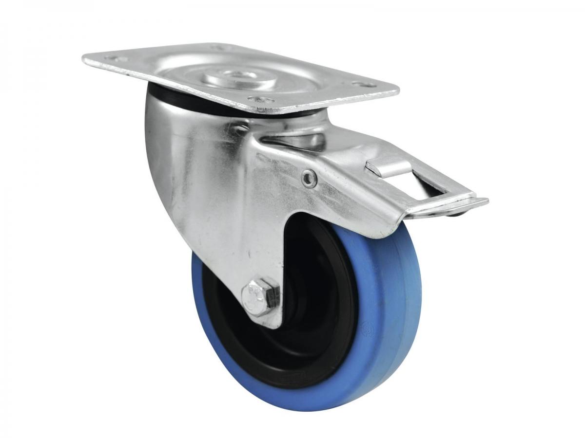 ROADINGERSwivel Castor 100mm BLUE WHEEL with brake