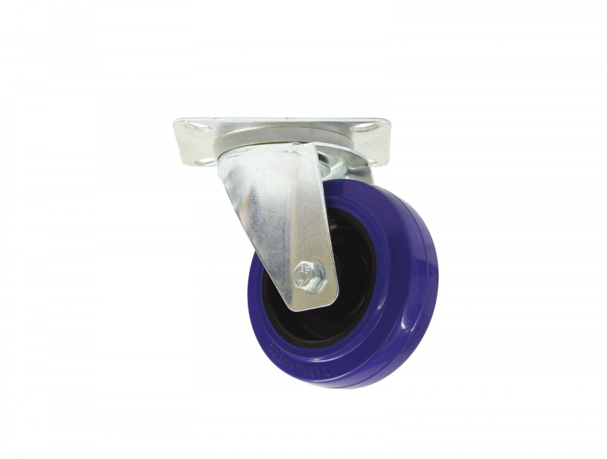 ROADINGERSwivel Castor 100mm blue shielded bearing