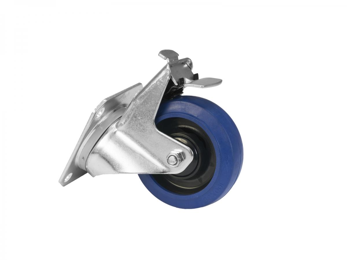 ROADINGERSwivel Castor RD-100B 100mm blue with brake