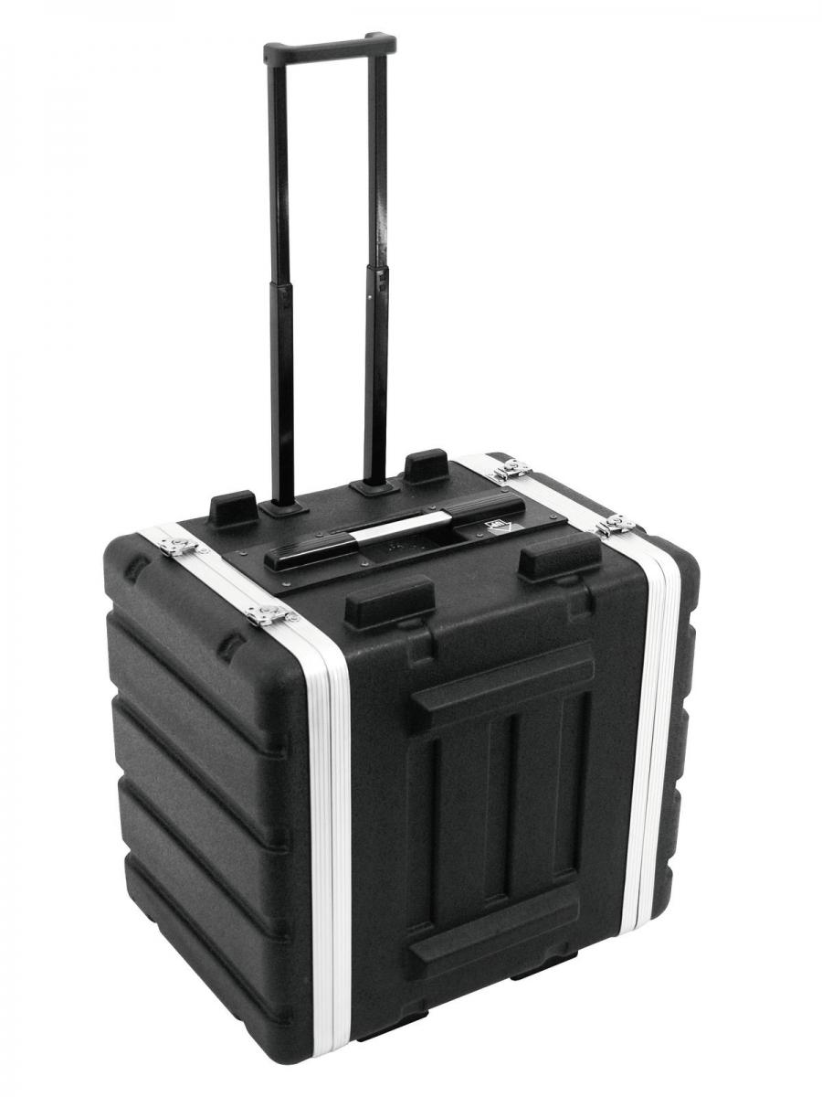 ROADINGERPlastic-Rack 19, 7U, DD/trolley, black