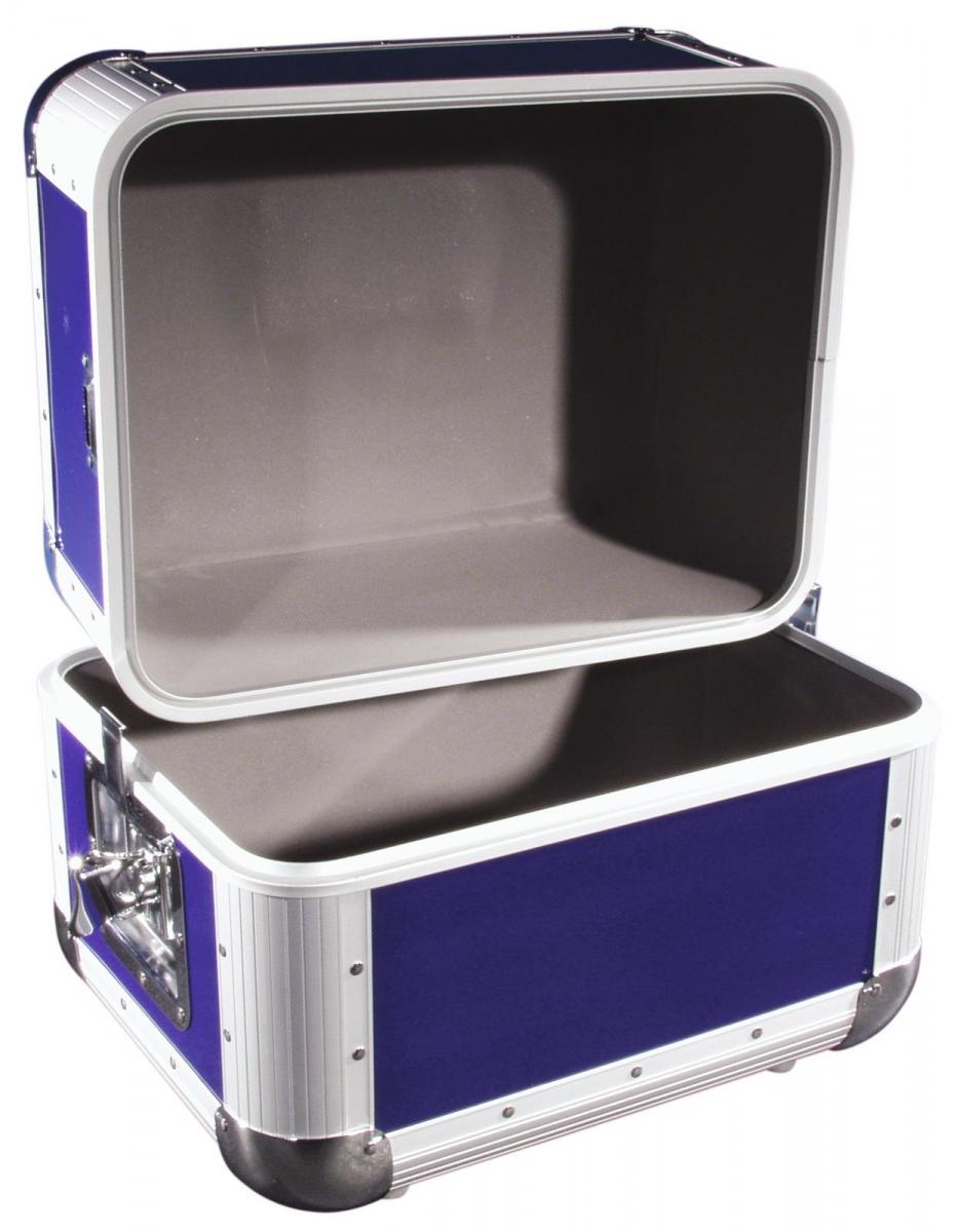 ROADINGERRecord Case ALU 50/50, rounded, dark blue
