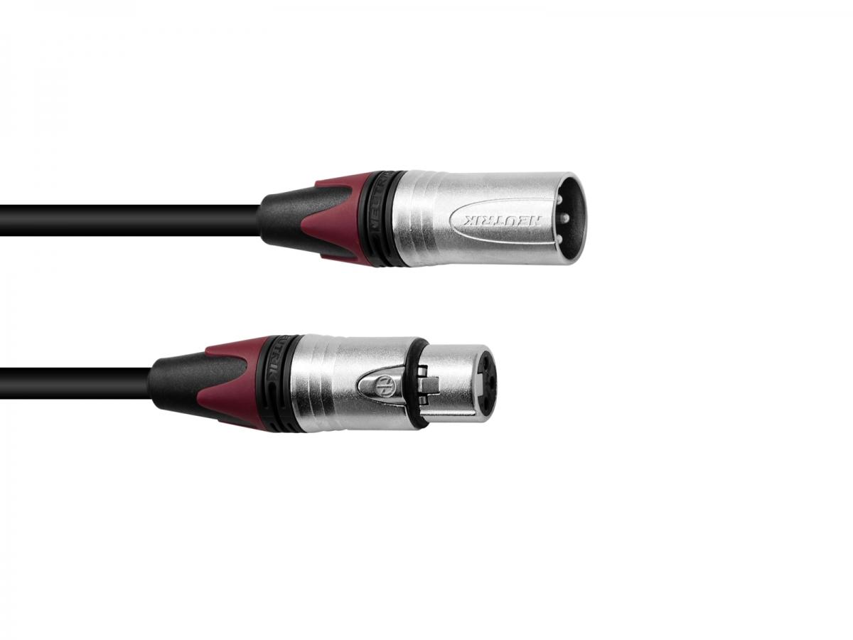 PSSOXLR cable COL 3pin 7.5m bk Neutrik