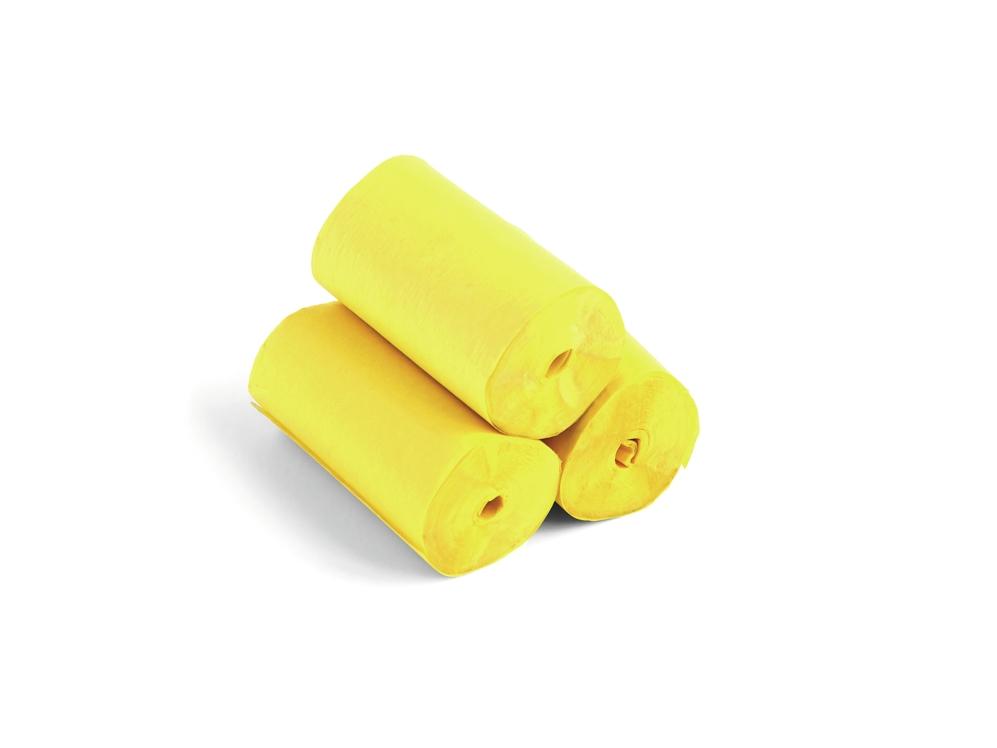 TCM FXSlowfall Streamers 10mx5cm, yellow, 10x