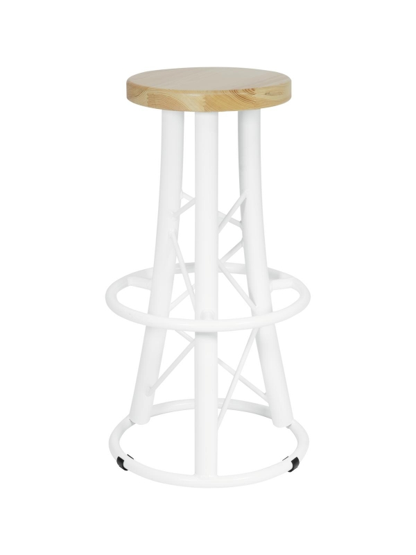 ALUTRUSSBar Stool, curved white