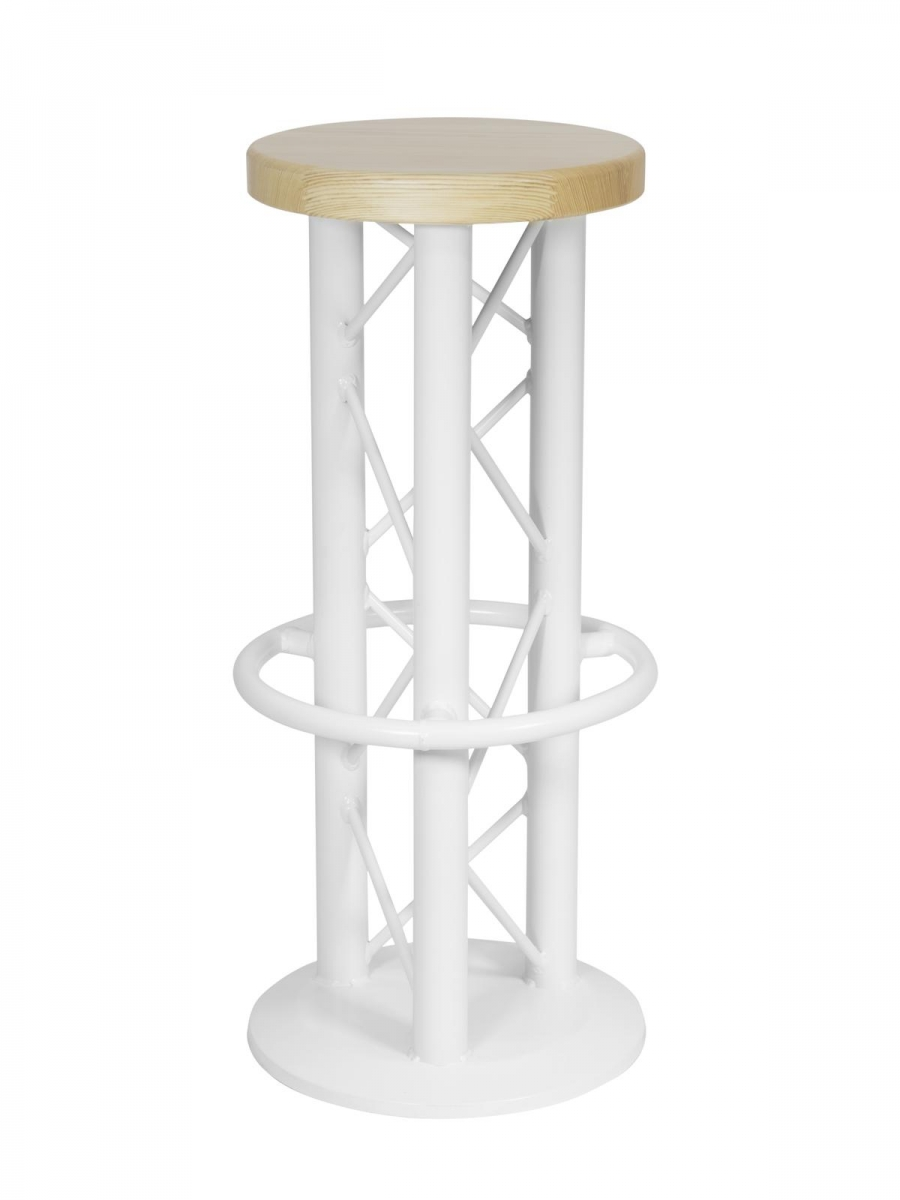 ALUTRUSSBar Stool with Ground Plate white