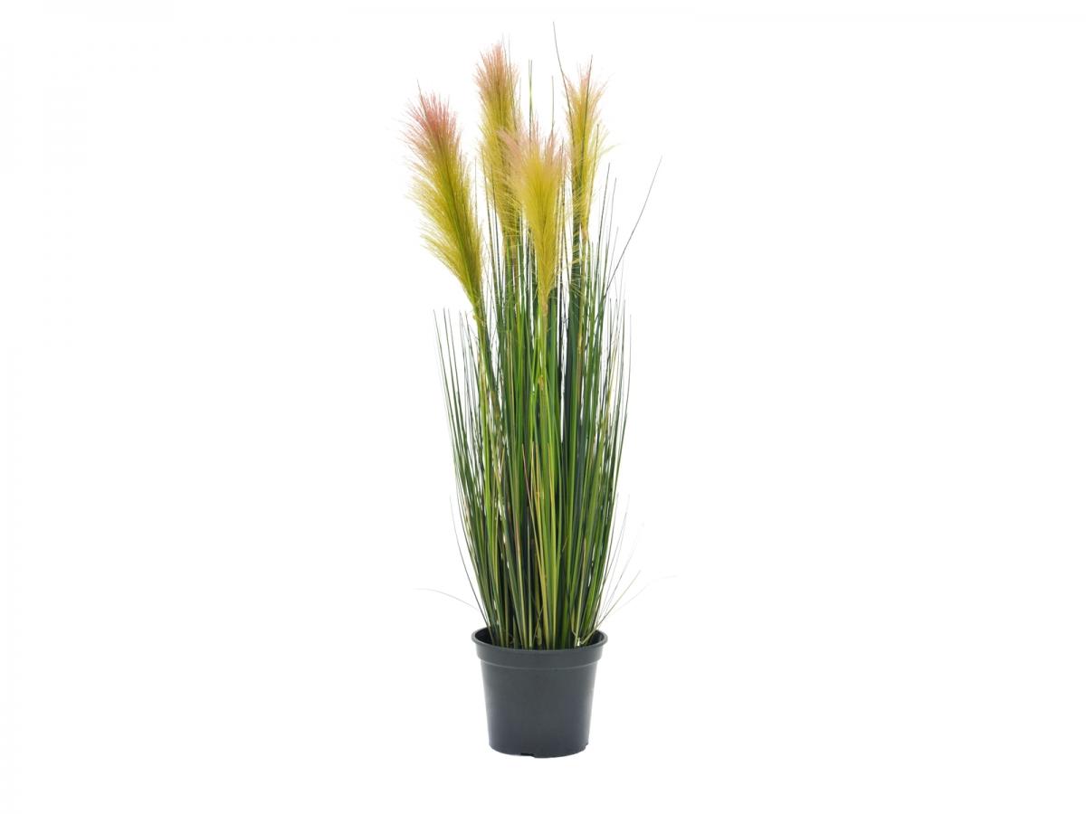 EUROPALMSFeather grass, artificial, rosé, 90cm