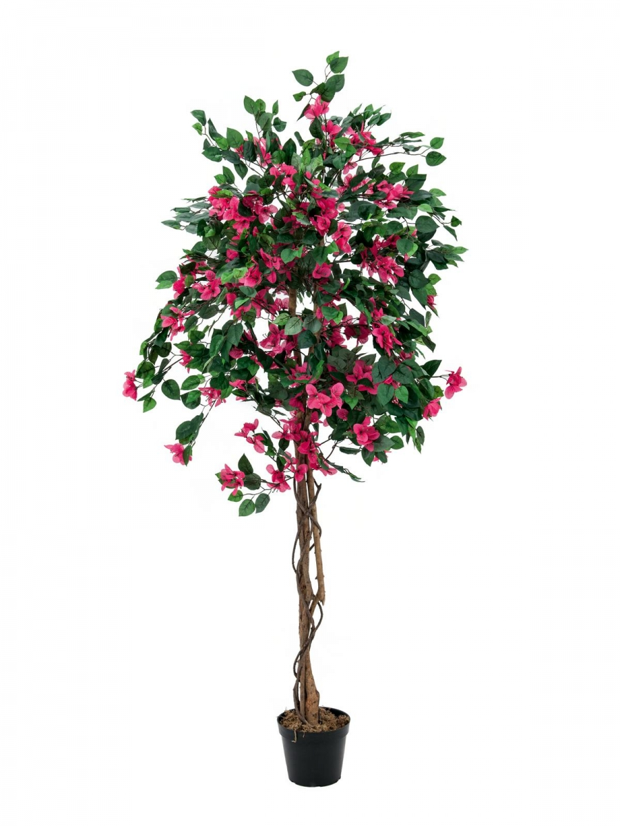 EUROPALMSBougainvillea, artificial plant, magenta, 180cm