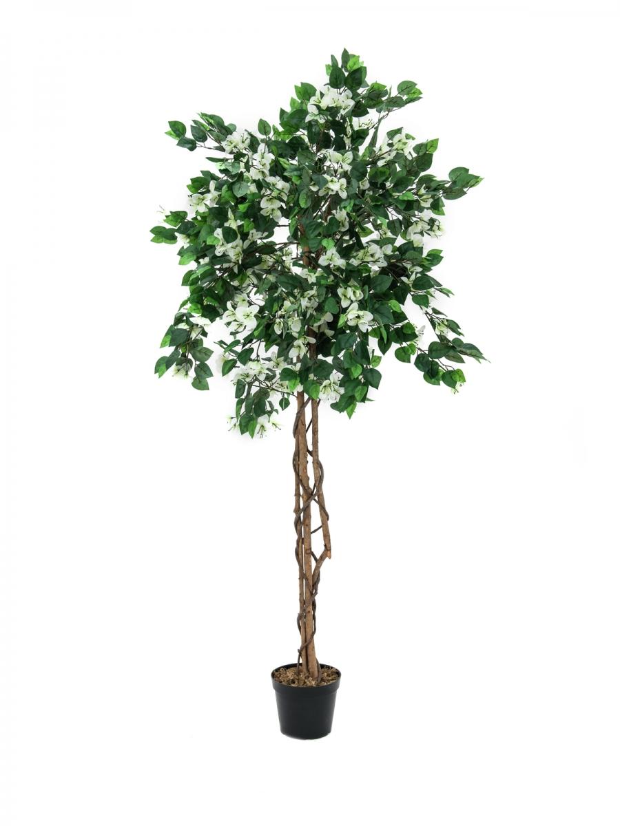EUROPALMSBougainvillea, artificial plant, white, 150cm