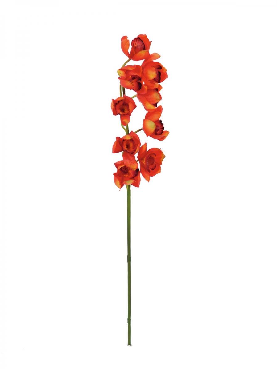 EUROPALMSCymbidiumzweig, künstlich, rot, 90cm