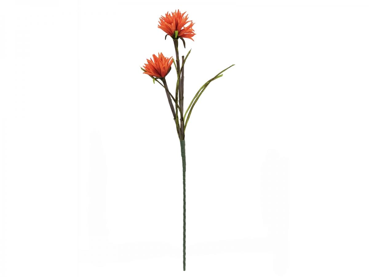 EUROPALMSDahlie (EVA), Kunstpflanze, orange, 100cm