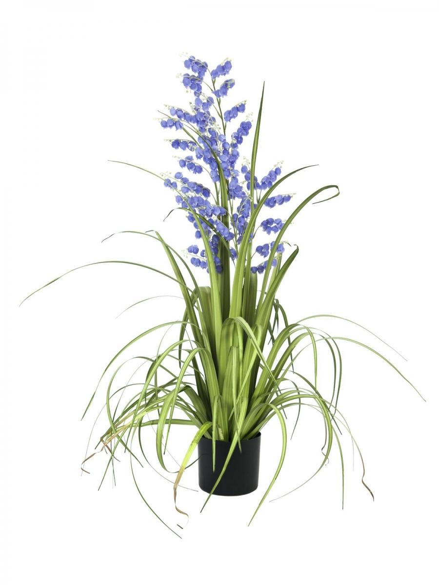 EUROPALMSBellflower, artificial flower, purple, 105cm