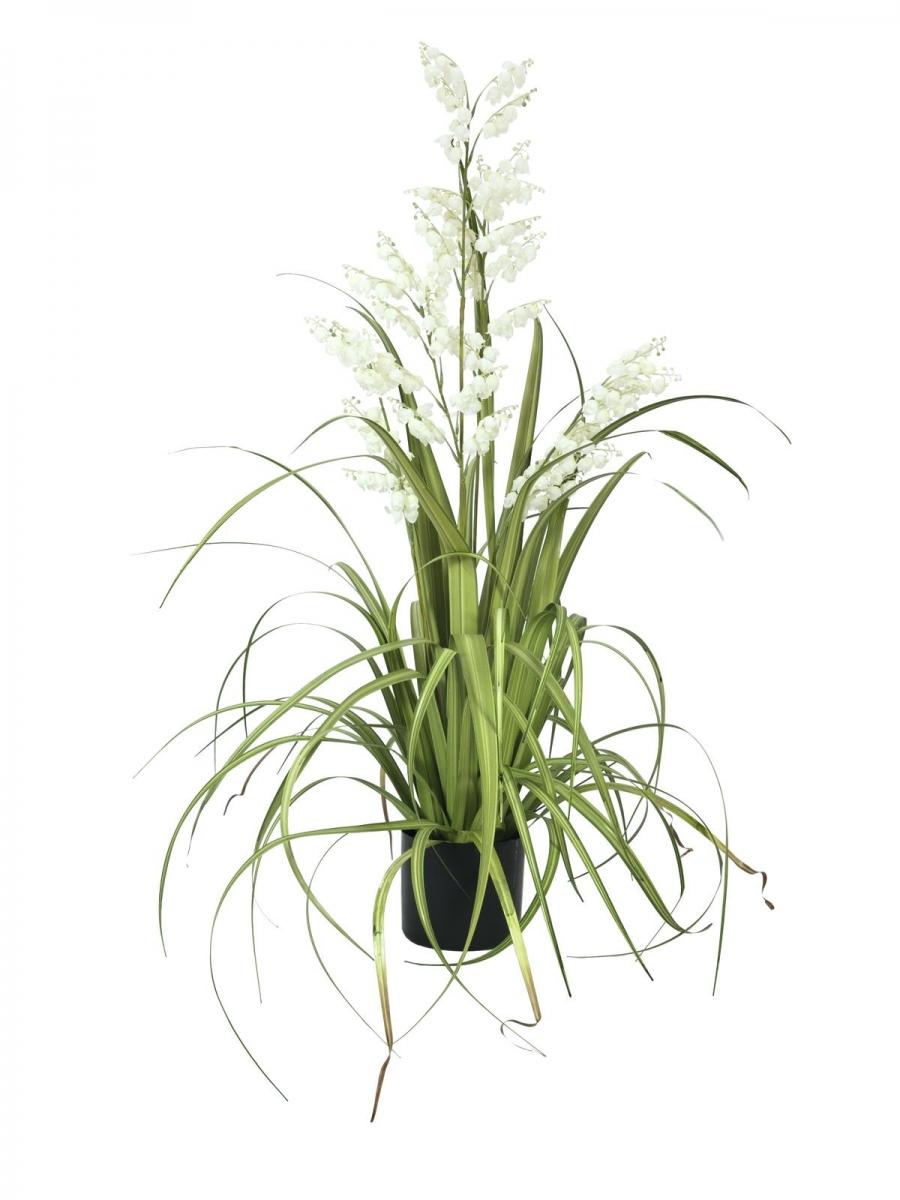 EUROPALMSBellflower, artificial flower, white, 105cm