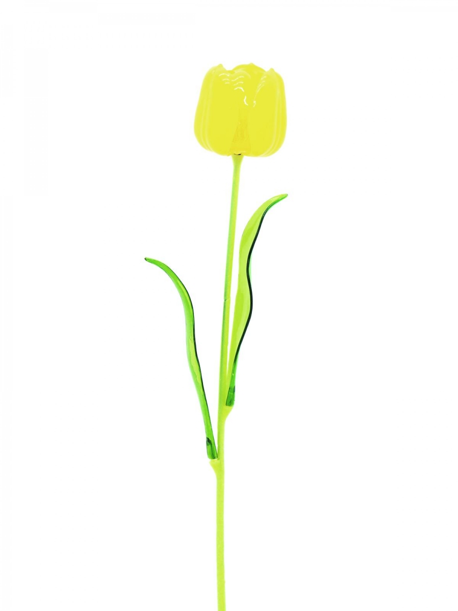 EUROPALMSCrystal tulip, yellow, artificial flower, 61cm 12x