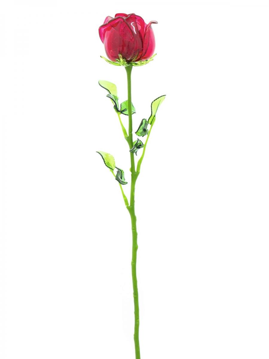 EUROPALMSCrystal rose, burgundy, artificial flower, 81cm 12x