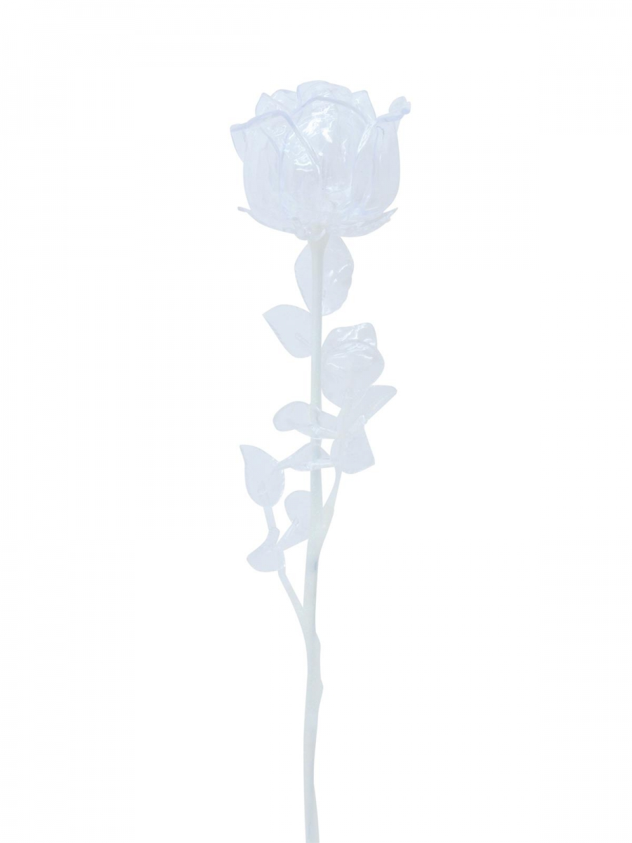 EUROPALMSCrystal rose, clear, artificial flower, 81cm 12x