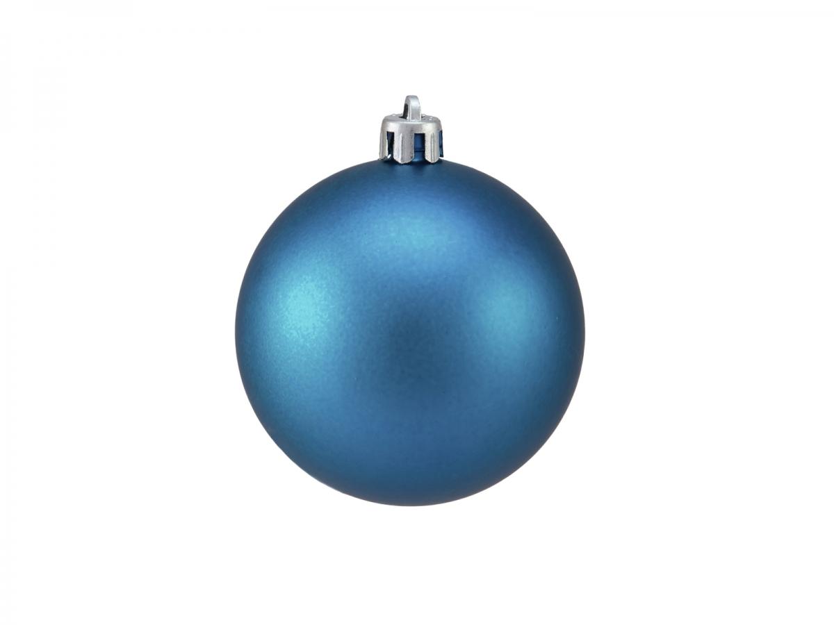 EUROPALMSDekokugel 7cm, blau, matt 6x
