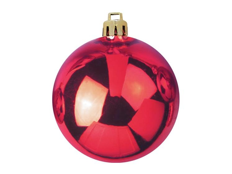 EUROPALMSDeco Ball 10cm, red 4x
