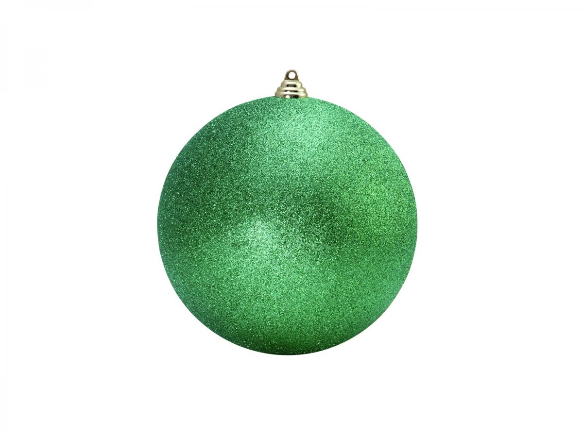 EUROPALMSDeco Ball 10cm, applegreen, glitter 4x