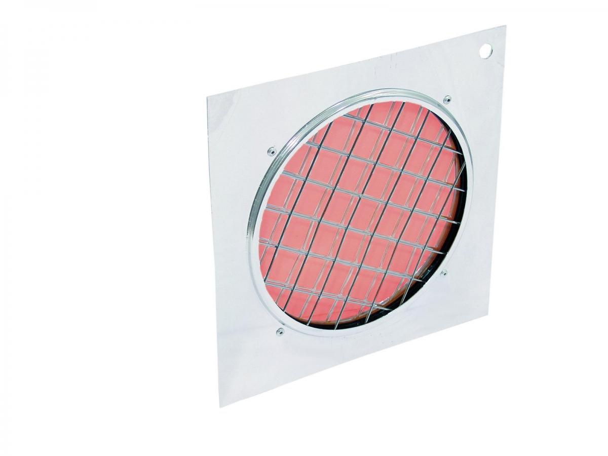 EUROLITEDichro-Filter rot, Rahmen silber PAR-56