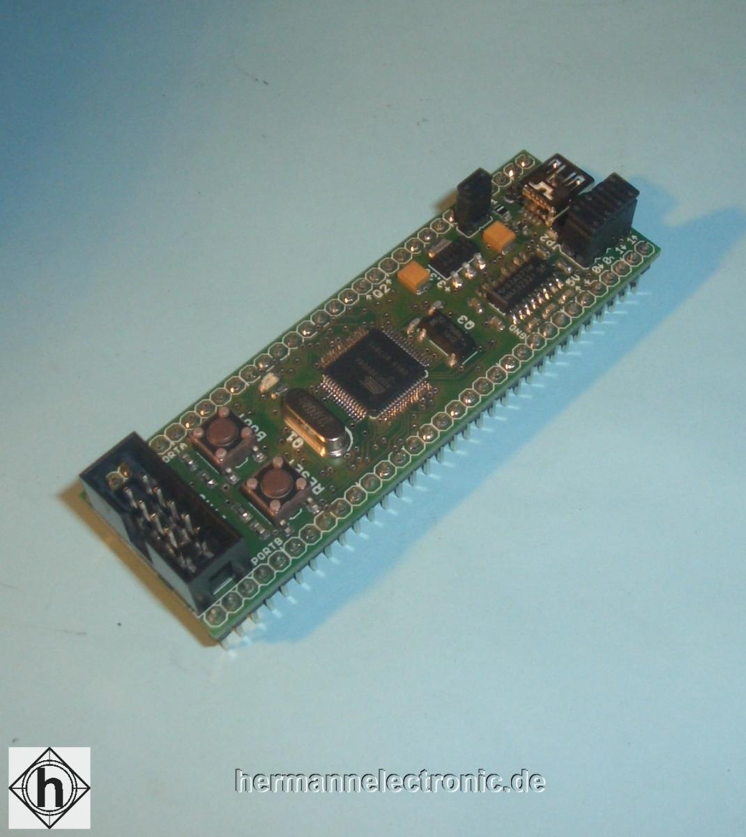 ALVIDIAVR32 development module with EEPROM model: AL-UC3BMB