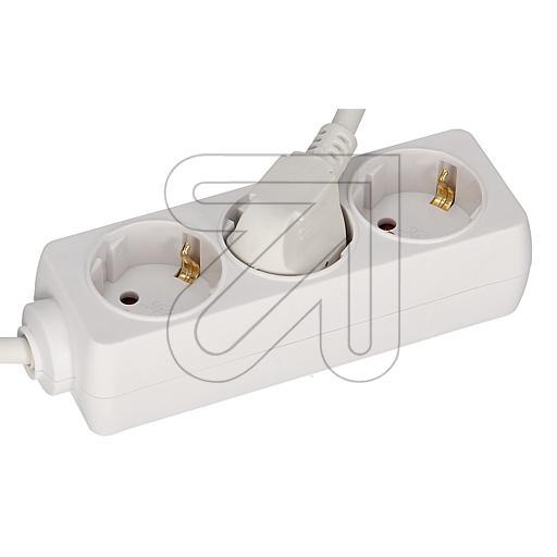 EGB 3-fach Steckdose mit Kinderschutz weiß 3m 045370