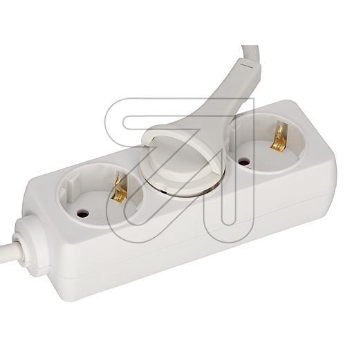 EGB3-fach Steckdose mit Flachstecker 3x1,5 weiß 3m EAN 40272360