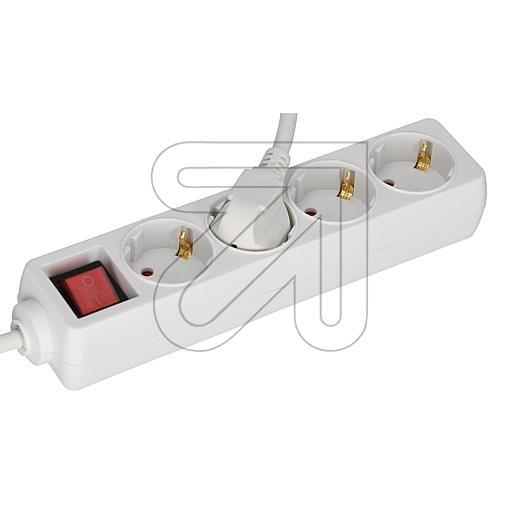 EGB4-fach Steckdosenleiste mit Schalter 3m weiß EAN 40272360464