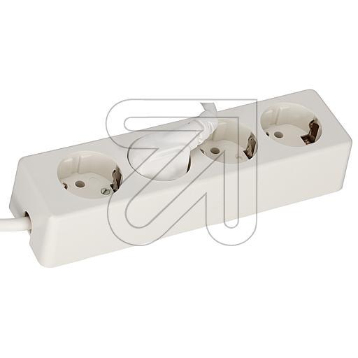 EGB4-fach Steckdosenleiste 3x1,5 weiß 3m