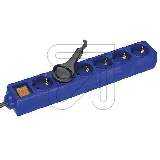 EGB6-fa.Steckdose m.Schalter u.Kinderschutz 1,5m blau mit Flach