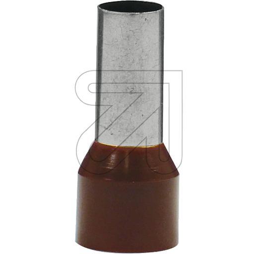 EGBAderendhülsen braun 25 Aderendhülsen mit Isolierung Durchm.