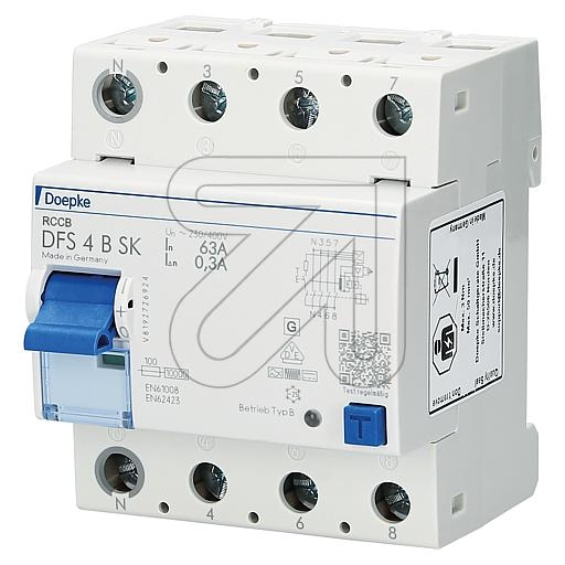 DoepkeFI circuit breaker B DFS 63/4/0,3 B SK * All-current sensitive *