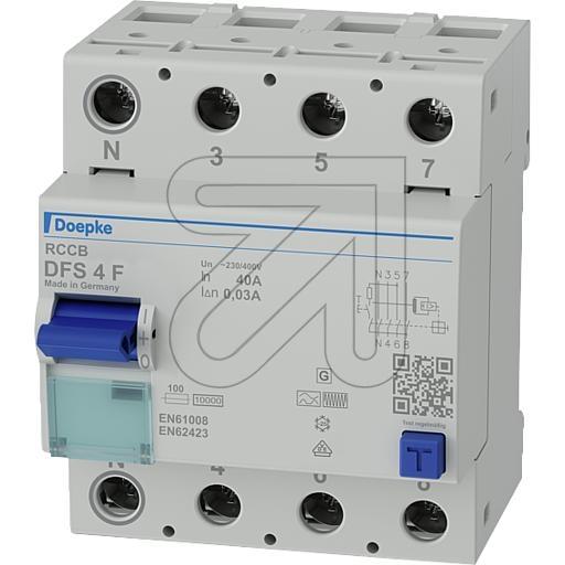 DoepkeMixed frequency sensitive residual current circuit breaker 4-pole 09134820