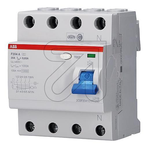 ABB Fehlerstrom-Schutzschalter F204A-25/0,03 180565