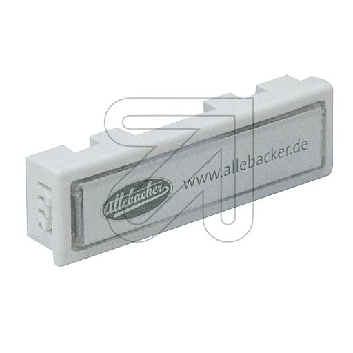AllebackerBell button white (19,3x71,3mm)