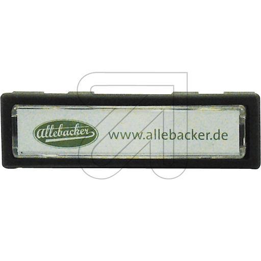 Allebacker Namensschild anthrazit 00AA-NS-80018 221095->Preis für 10 STK! EUR 1.935 je STK