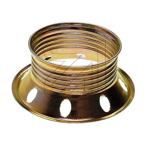 EGBFassungs-Ring E27 messing Metall-Schraubring für Fassung E27