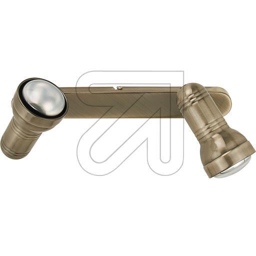 ORION Licht Metall-Strahler R63 2flg altmessing STR 10-296/2 647915
