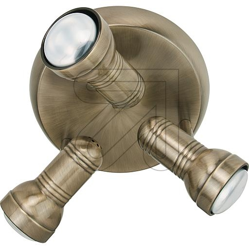 ORION Licht Metall-Deckenteller R63 3flg altmessing STR 10-297 647935