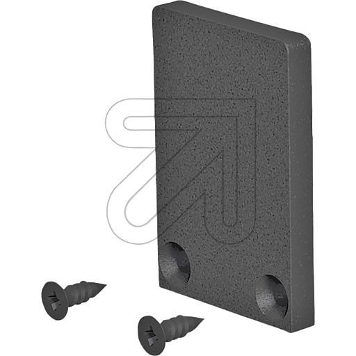 EVNEnd-Abschlussplatte hoch 27,5x18,5x3mm schwarz APXSBEAP