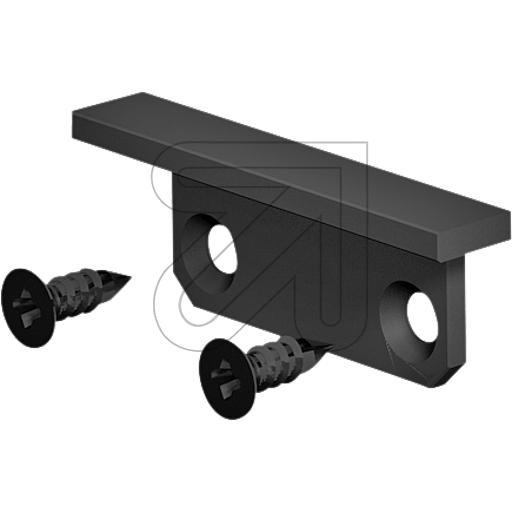 EVNEndabschlussplatte 24,5x9x4,2mm schwarz APXSTBEAPEB