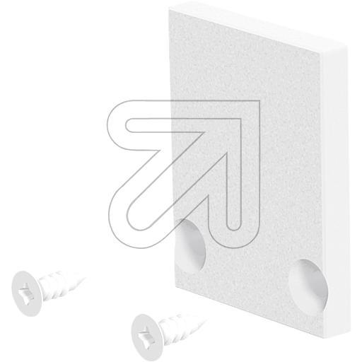 EVNEnd-Abschlussplatte 24x18,5x3mm weiß APHWEAP