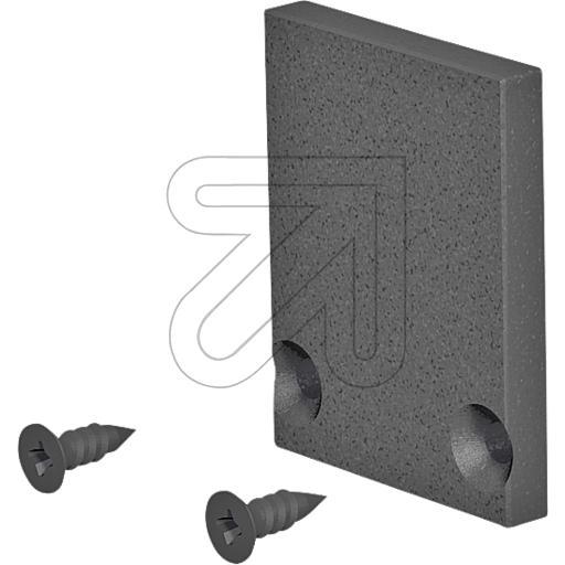 EVNEnd-Abschlussplatte 24x18,5x3mm schwarz APHBEAP