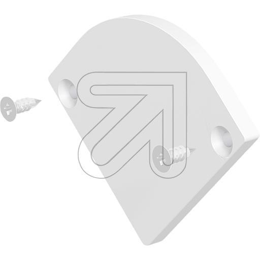 EVNEndabschlussplatte gewölbt 42x33,7x3mm weiß APEXLWEAPHR