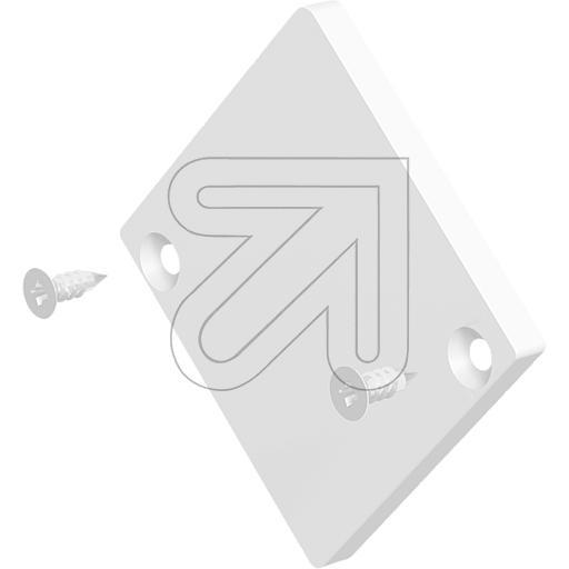 EVNEndabschlussplatte eckig 42x41,4x3mm weiß APEXLWEAPQ