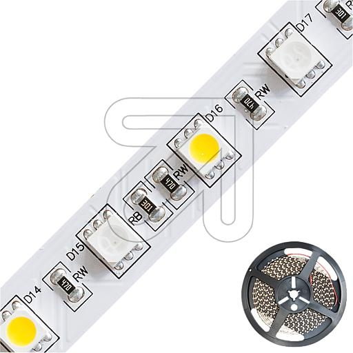EVNRGB+WW-LED-Strips-Rolle 5m IP20 - 24V-DC 60W max. 631lm/m RGB+3000K B12mm H2mm STR202460509902